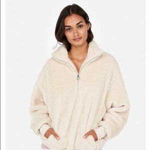 Express fleece quarter-zip sweatshirt/ Sherpa